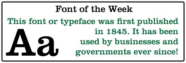 Book Printing Fonts, Clarendon