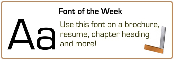 Book Printing Font of the Week 7-22-15
