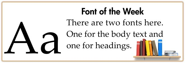 Book Printing Font Combinations