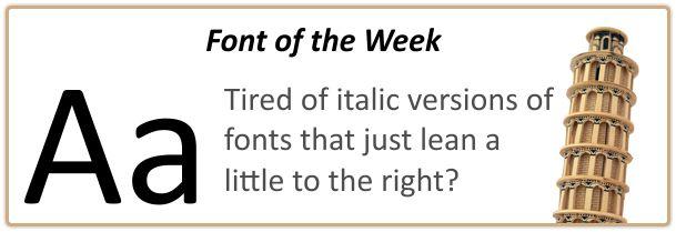 Best Italic font choice
